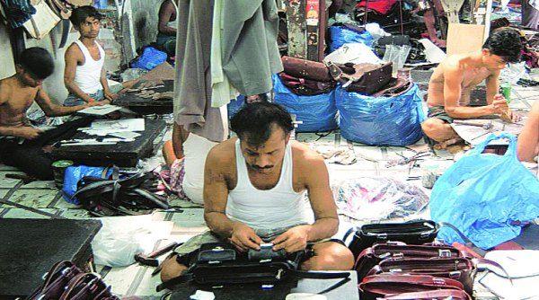 Dharavi leather market in Mumbai
