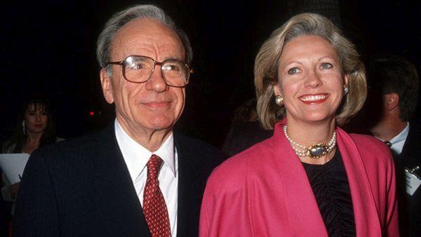 Rupert Murdoch and Anna Maria Torv