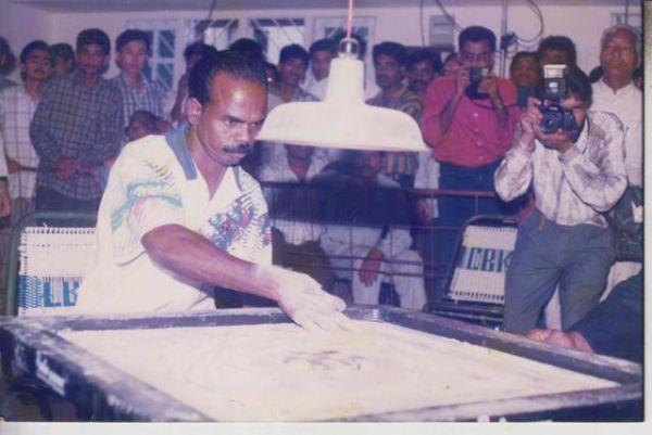 Carrom player A. Maria Irudayam