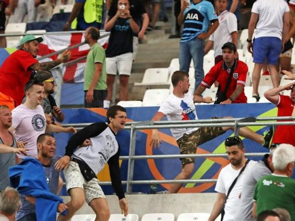 Russia versus England football game, 2016