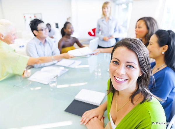 Business Woman in Conference with Associates
