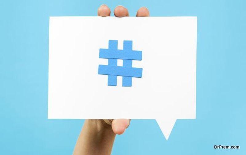 Add hashtags