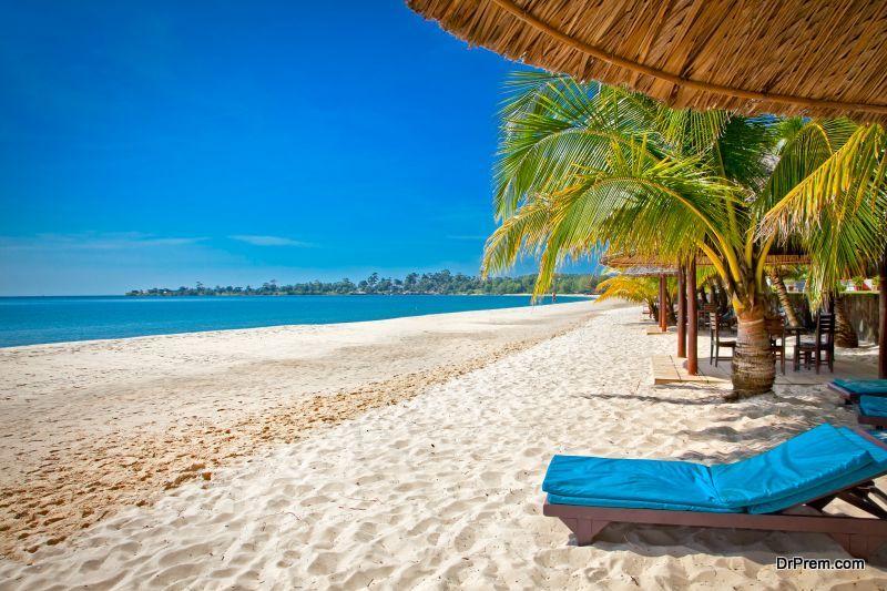 Beautiful tropical Sokha beach, Sihanoukville, Cambodia .