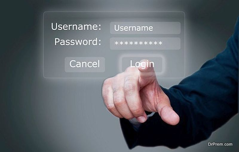 User name and passowrd Login