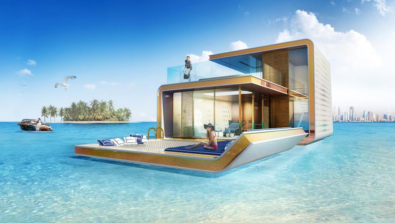 Floating Seahorse homes in Dubai