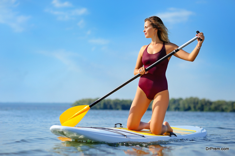 stay balanced on top of your paddle board