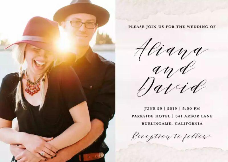 Unique Photo Wedding Invitations