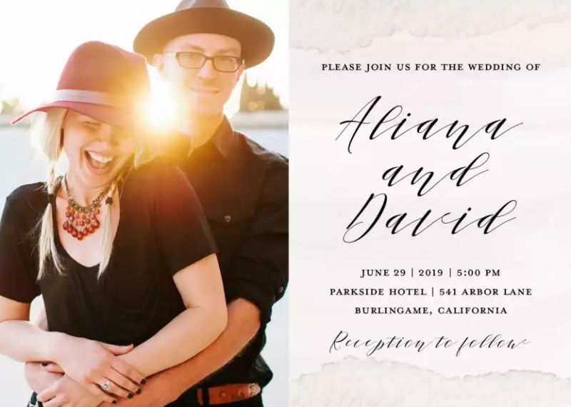 Unique Photo Wedding Invitations