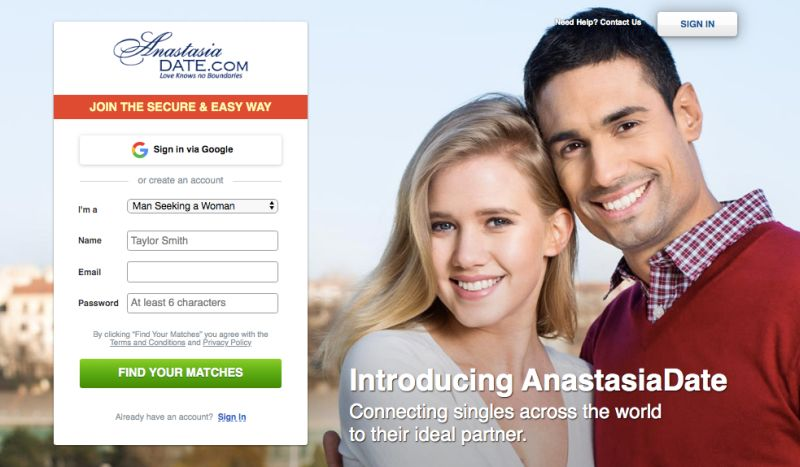 Anastasia Date app