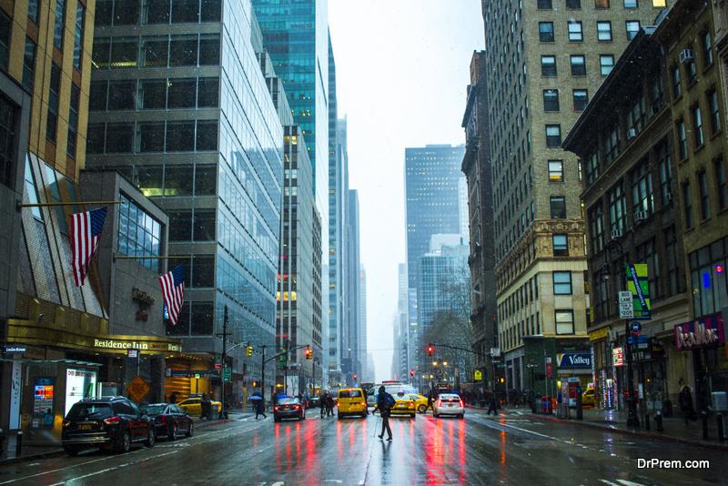 New York experience a lot of rain