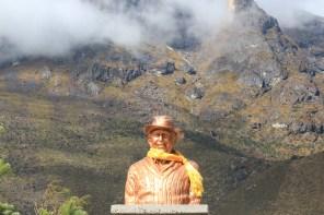 Edmund Hilary's bust in Khumjung