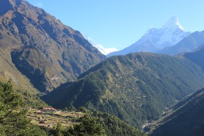 View of the Phortse Village from Kyangjuma.