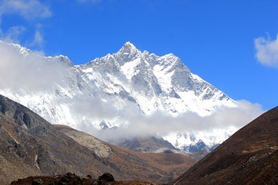 Views of Mt Everest along the way.