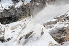 An Avalanche coming down the slopes