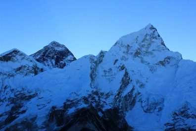 Mt Everest and Nuptse in the front