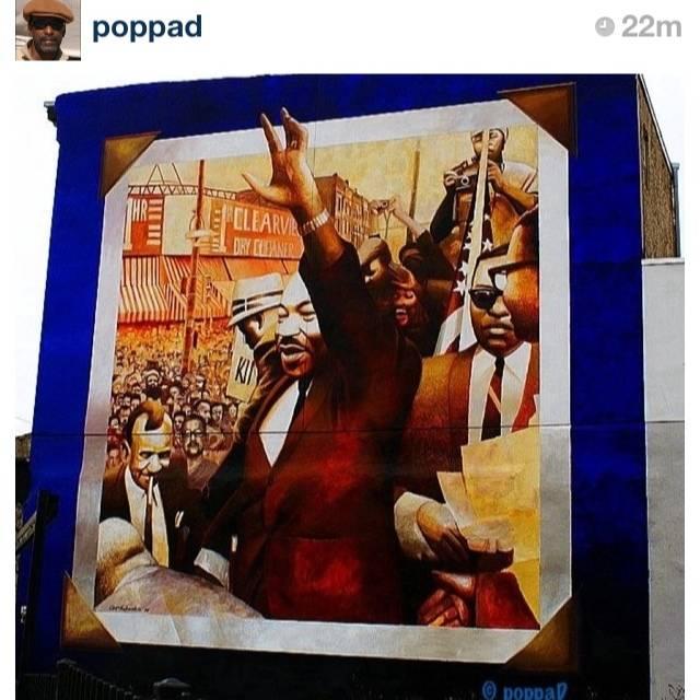 "FlashOn 1.4: Pic ""Hipstamatic Wall M.L King"" by @poppad"