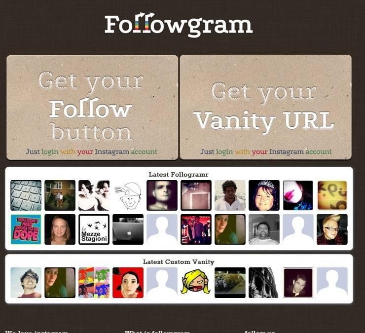 Followgram, the Instagram follow botton for your blog