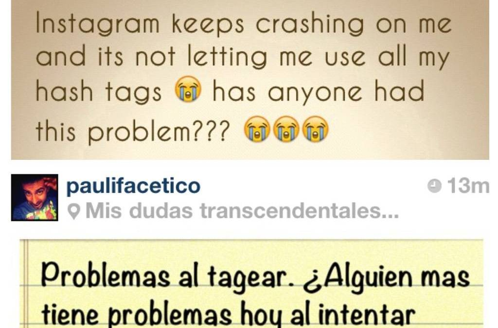 Hashtag and crash bugs on Instagram 2.0
