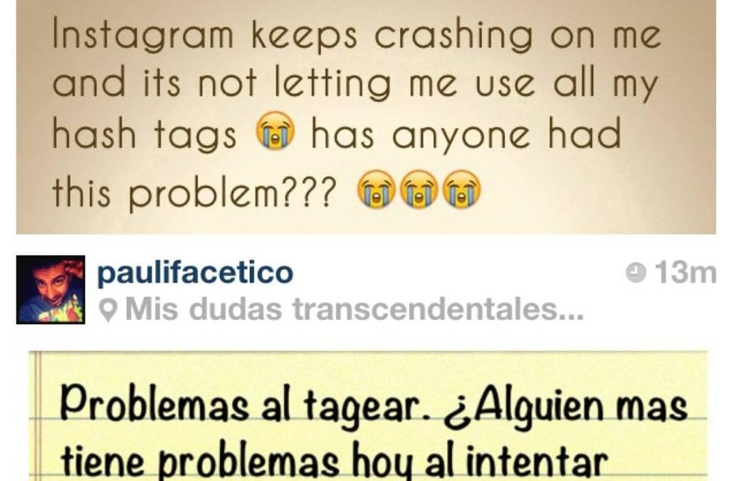 Hashtag and crash bugs on Instagram 2.0
