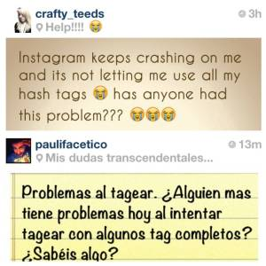 instafails hashtags crashes bugs