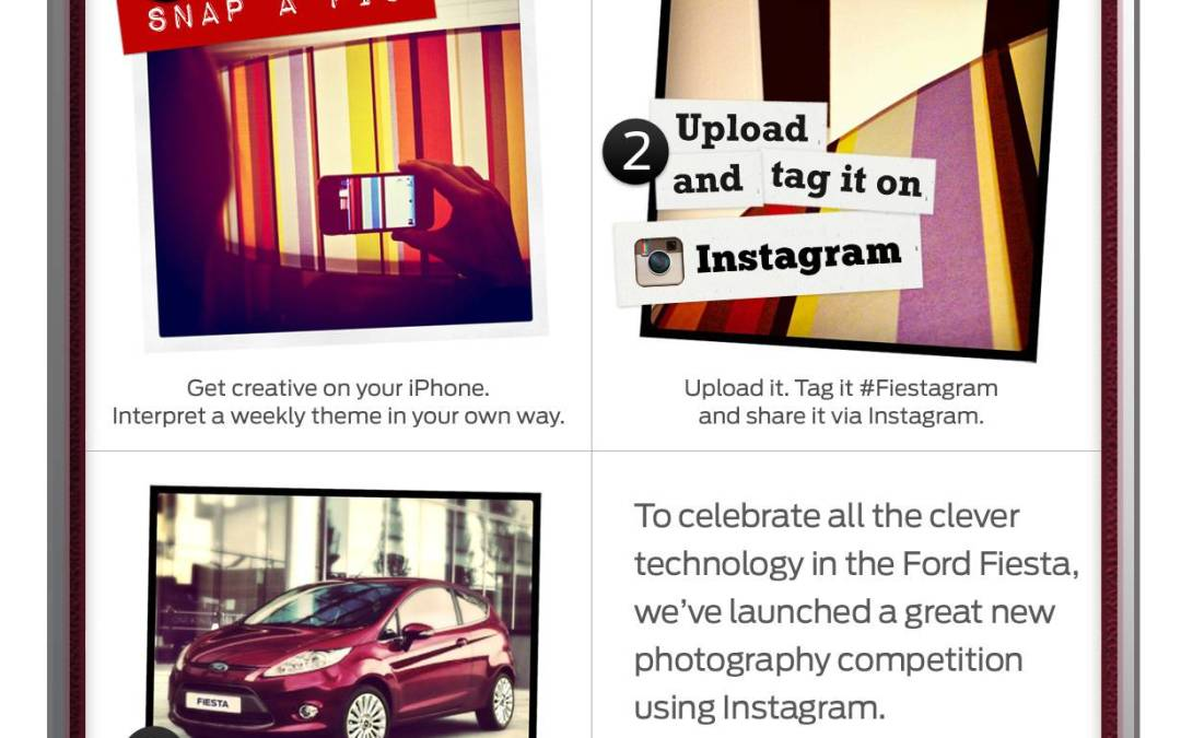 Fiestagram Ford Contest in Instagram