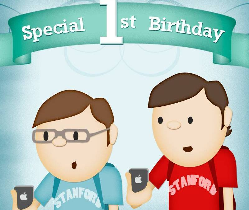 Instagram first birthday Infography