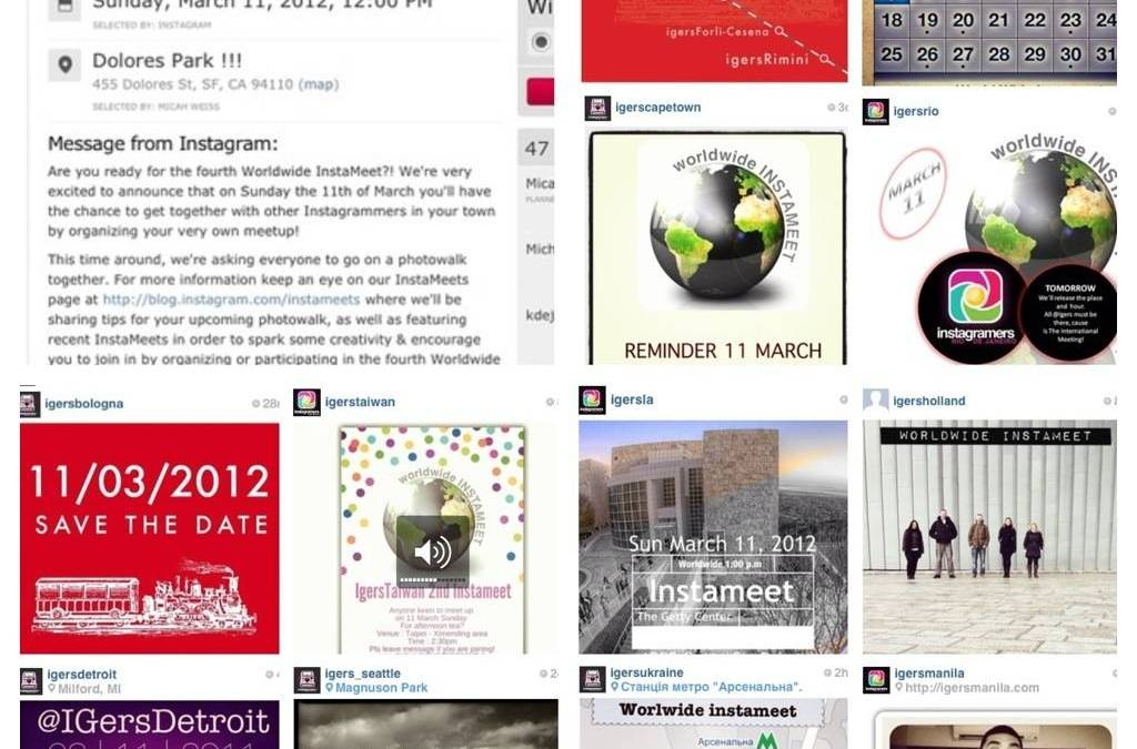 Last call for Instameet Worldwide 11 March 2012