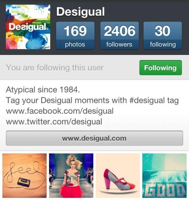 Desigual sigue apostando por Instagram en su red de comunidades