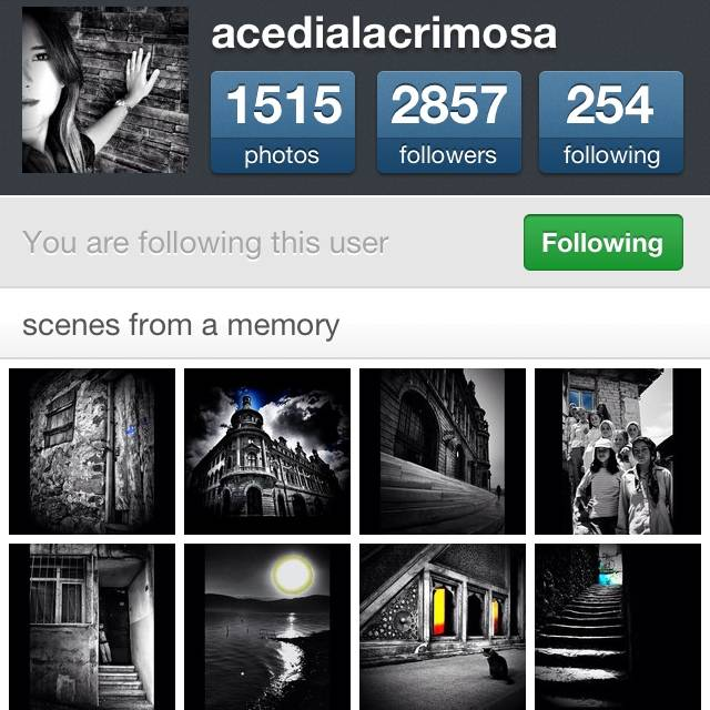 FlashOn Instagramers 1.30: @Acedialacrimosa