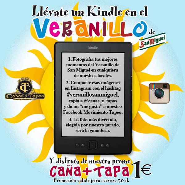 Cañas y Tapas organiza un Concurso en Instagram