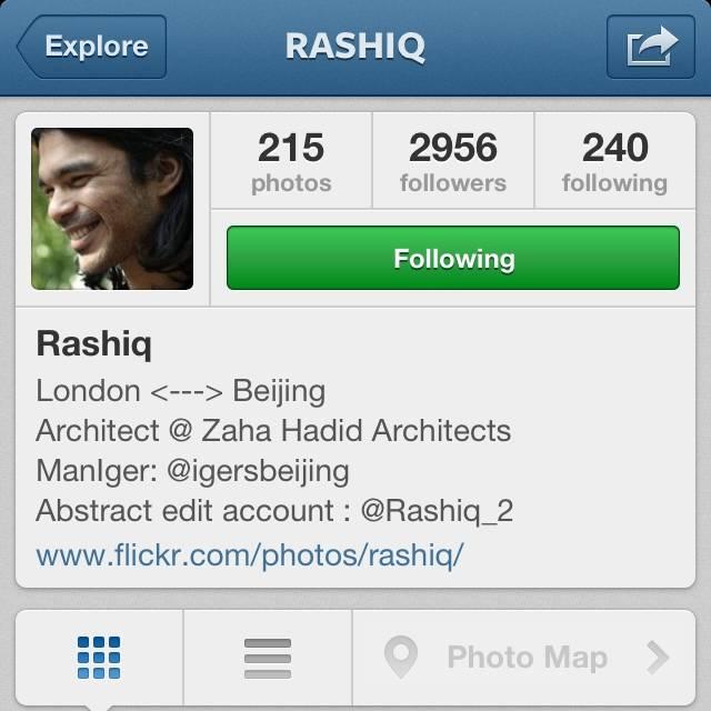FlashOn Instagramers 1.37: @Rashiq from Beijing