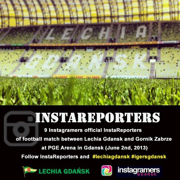 9 Instagramers official InstaReporters of Lechia Gdansk football match