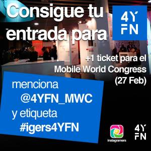 Concurso entradas para 4YFN Barcelona