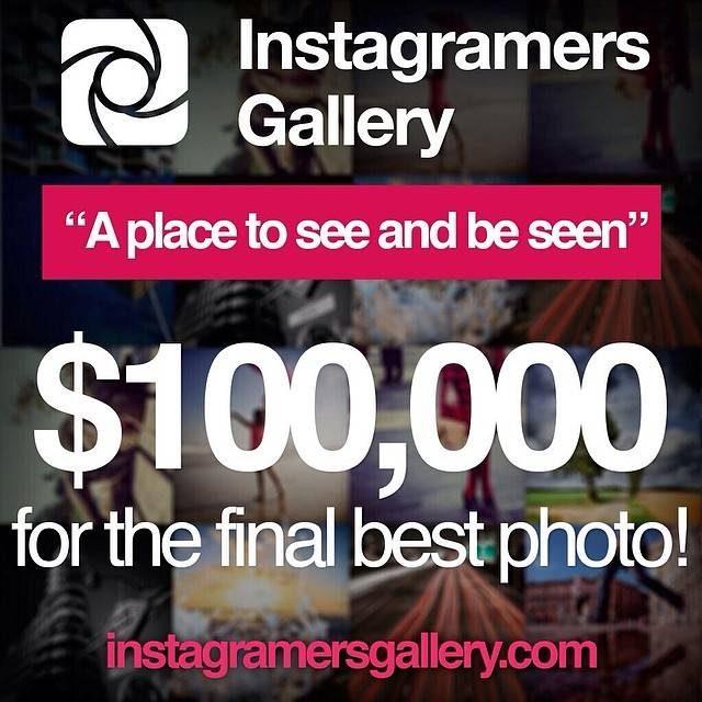 Three more weeks to win $100,000 at instagramersgallery.com