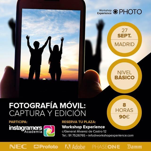 Taller Especial sobre Instagram con la Instagramers Academia y WorkShopExperience en Madrid