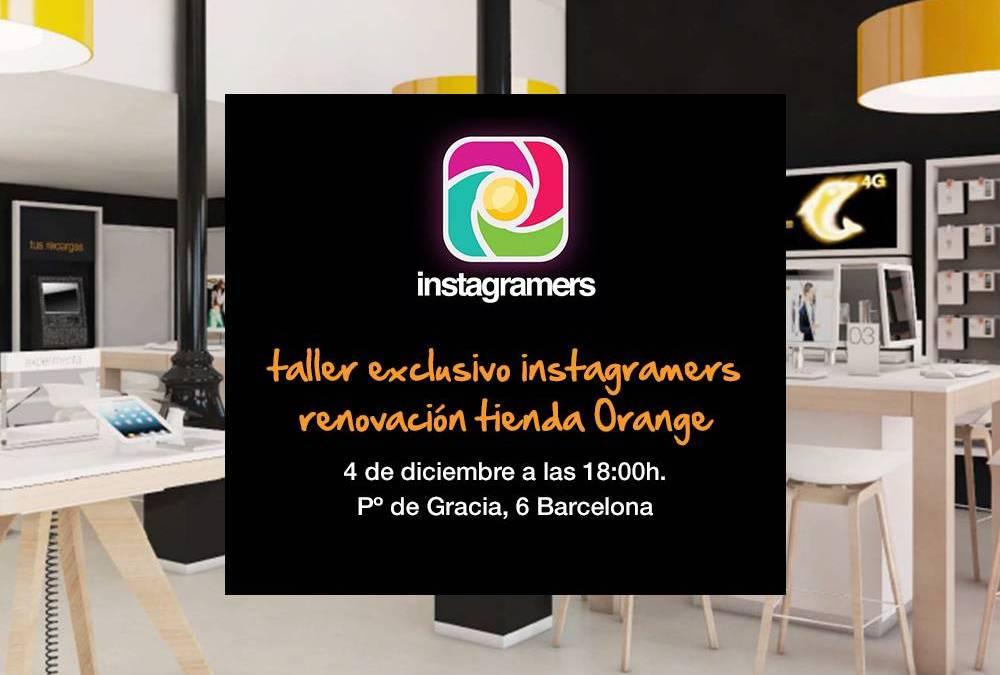 Taller exclusivo instagramers en Orange Barcelona