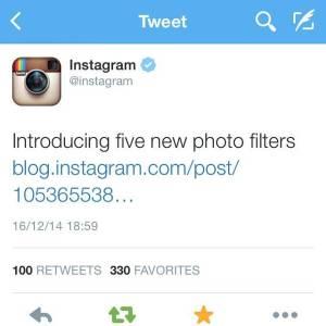 5 nuevos filtros en instagram