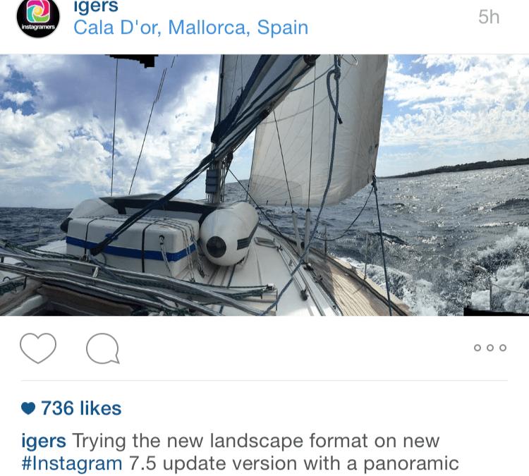 """Instagram descubre nuevos horizontes con el formato """"Landscape"""""""