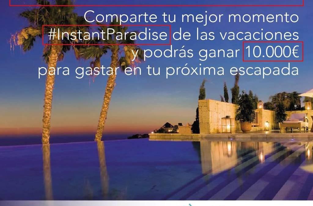 Gana  10.000 euros  para gastar en tus próximas vacaciones gracias a #InstantParadise de Villas.com en Instagram