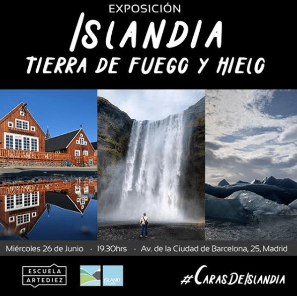 Inauguración de la exposición Islandia Tierra de Fuego y Hielo