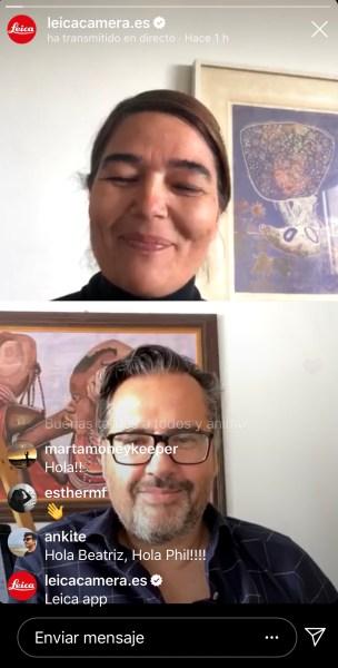 Directos Instagram Leica España y Phil González