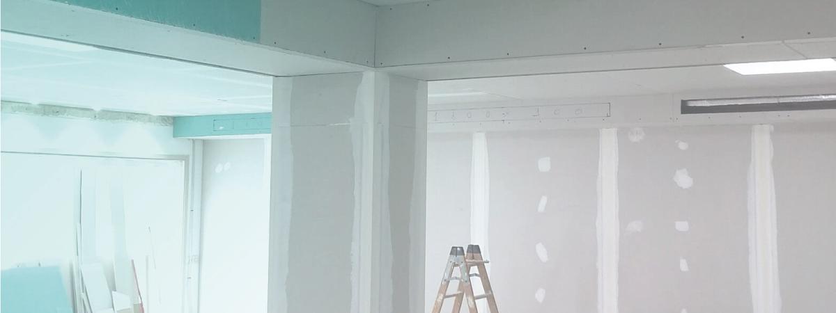 montaje de pladur para obra nueva negocios viviendas mataro maresme barcelona instalassisol