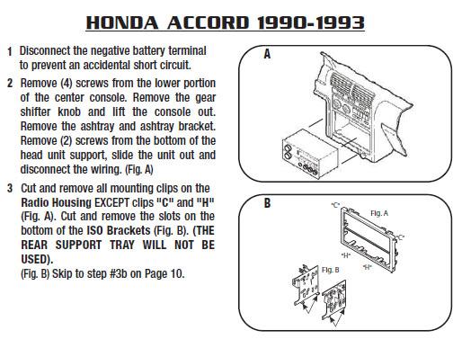 .1993-HONDA-ACCORDinstallation Instructions