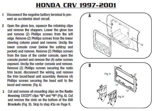 .1997-HONDA-CRVinstallation Instructions