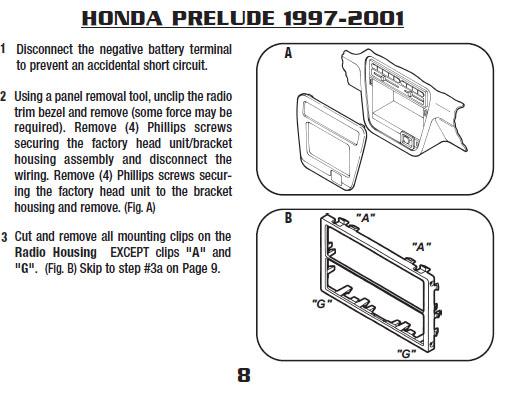 .1999-HONDA-PRELUDEinstallation Instructions