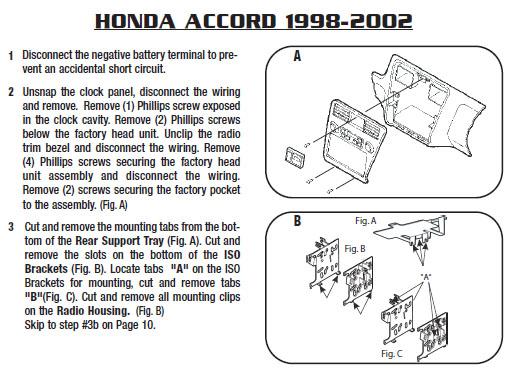 .2000-HONDA-ACCORDinstallation Instructions