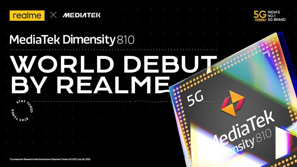 Realme to launch the World's first Dimensity 810 device in India