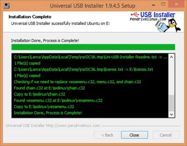 make installation USB
