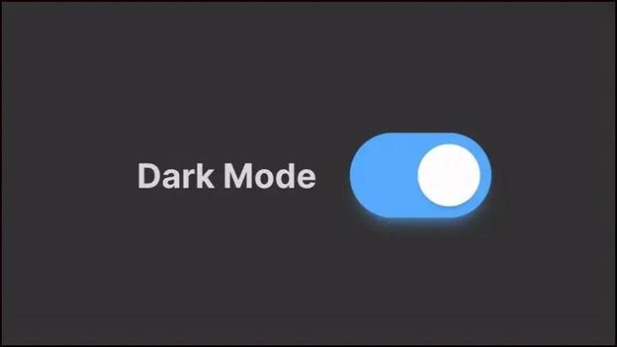 dark mode on realme phone
