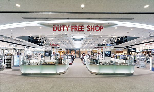 shopping at the duty free shops